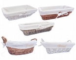 Full Wicker Strong Bread Fruit Wicker Storage Basket Xmas Hamper Basket Gift